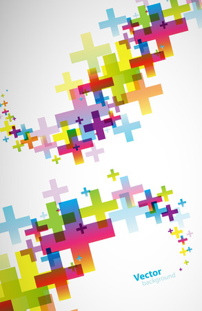 green cross: Abstract colored wallpaper with plus signs.
