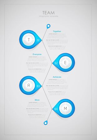 everyone: Team - infographic template (together, everyone, achieves, more).