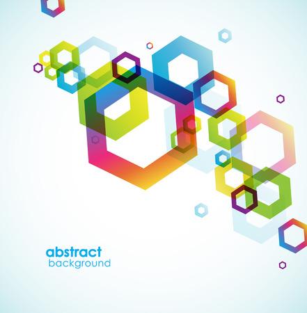 あなたのテキストのための場所と六角形の背景を抽象化します。  イラスト・ベクター素材