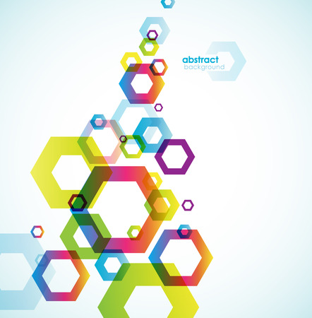 place for your text: Abstract hexagon background with place for your text.