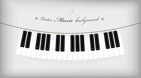 Hanging piano keyboard with place for your text.