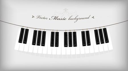 Colgando teclado de piano con el lugar para su texto.