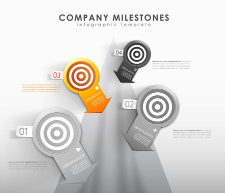 milestones: Infographic company milestones timeline template.