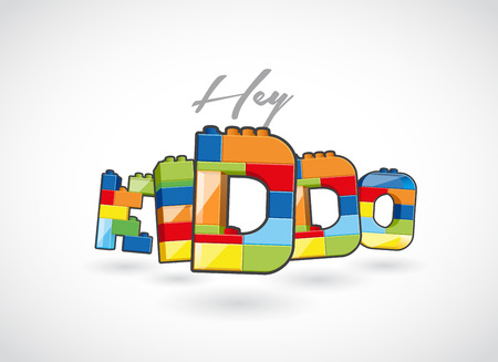 hey: Hey Kiddo call out created of brick based elements.