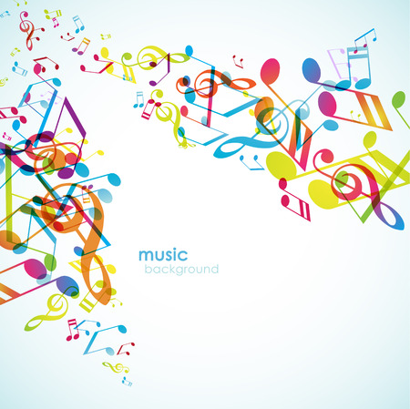 tunes: Abstract backgrounds with colorful tunes.