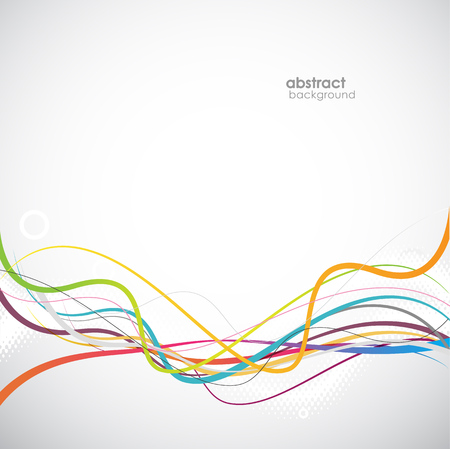 Abstract simple lines in footer. Vector art