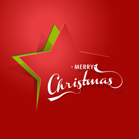 christmas star background: Abstract background with Christmas star and Merry Christmas text.