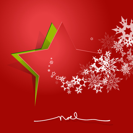 christmas star background: Abstract background with Christmas star and NOEL text.
