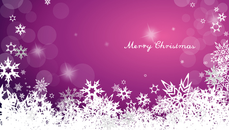wide angle: Dark Christmas background with snowflakes and simple Merry Christmas text - wide angle version