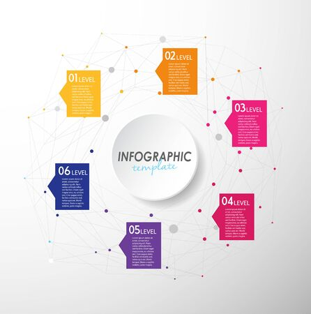 own: Colorful infographic template with place for your own text - light version.