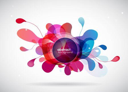 Flor coloreada abstracta con los círculos. Ilustración de vector