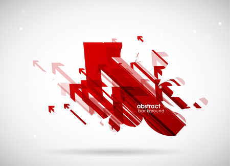 red arrows: Abstract red arrows  wallpaper.