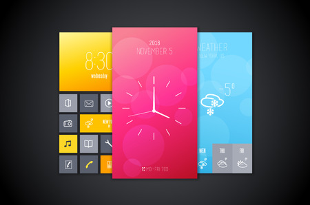 background designs: Mobile interface background designs set.