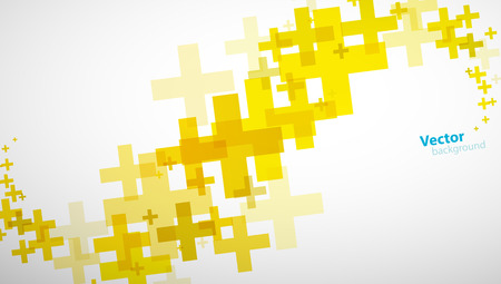 Fond abstrait créé de signe jaune plus.