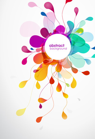 abstract: Abstract colored flower background with circles.