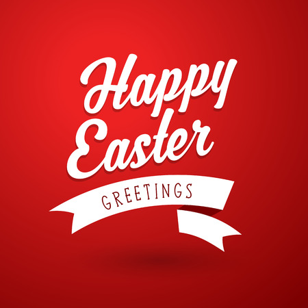 pascuas navideÑas: Happy Easter holiday greeting card template.