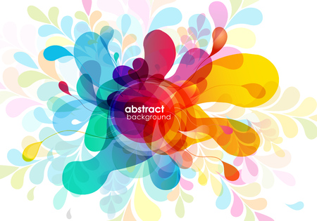 Abstract colored background with shapes.