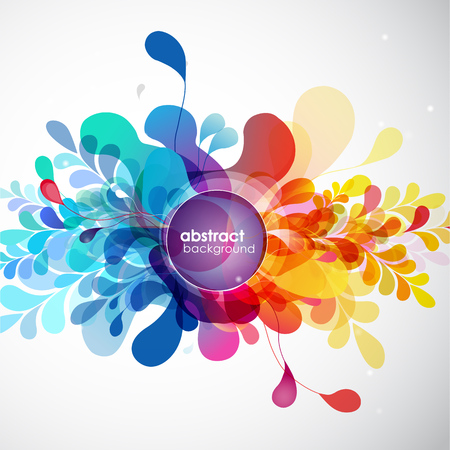 isolate: Abstract colored background with different shapes.