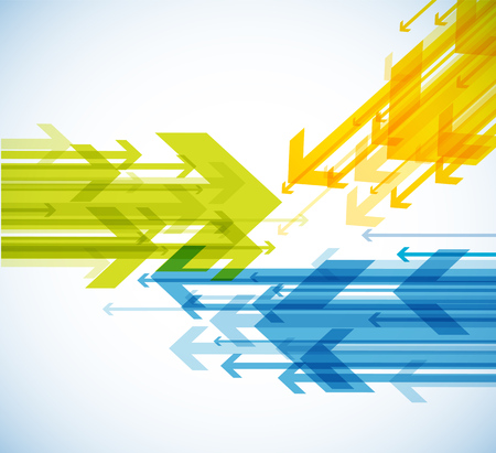 Abstract background with colorful arrows. Stok Fotoğraf - 82439907