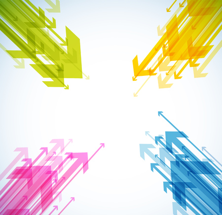 Abstract background with colorful arrows. Stok Fotoğraf - 82741445