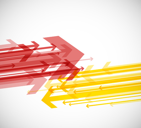 Abstract background with colorful arrows. Çizim