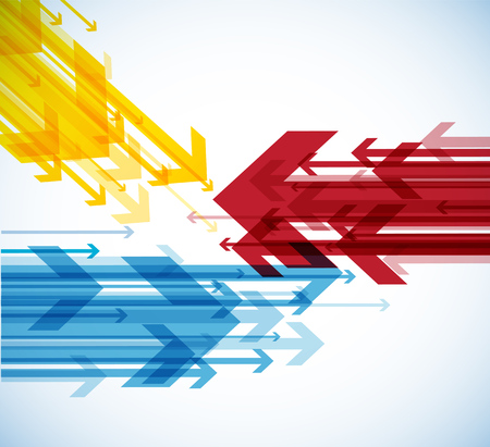 Abstract background with colorful arrows. Illustration