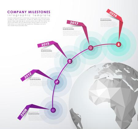 Infographic startup milestones time line vector template royalty infographic startup milestones time line vector template stock vector 85127592 maxwellsz