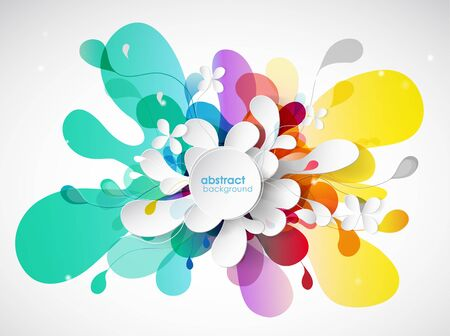 rainbow: Abstract colored flower background with circles.