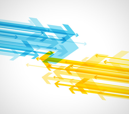 Abstract background with colorful arrows. Stok Fotoğraf - 114505670