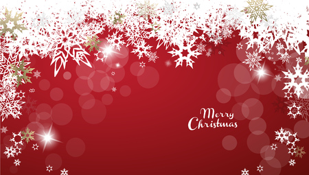 Christmas golden vector background illustration with snowflakes and Merry Christmas text Illusztráció