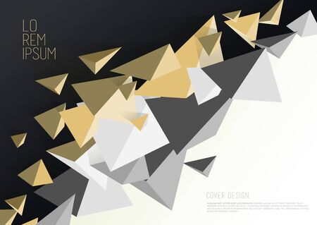Golden colored abstract template.