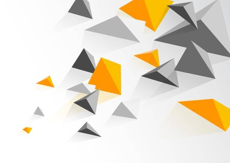 Document design template with abstract polygonal objects.
