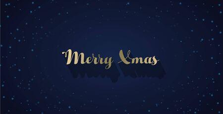 Christmas vector background with stars on sky. Ilustração