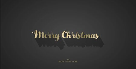 Dark Christmas vector background with shadow.