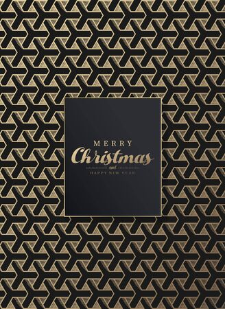 Seamless abstract vector background pattern with Merry Christmas greetings.