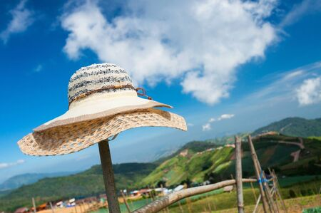 beautiful hat with blue sky background Stock Photo