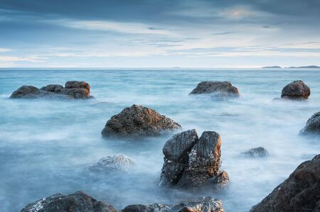 Seascape, composition of nature with long exposure shot