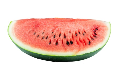 Slice of watermelon isolated on the white background