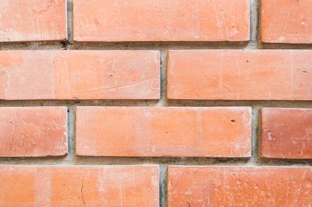 Seamless brick wall background, closeup view  Stock Photo