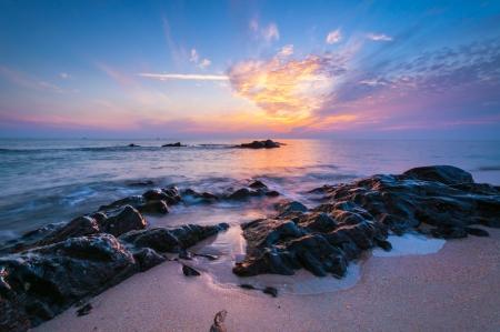 Mooi zeegezicht Samenstelling van de natuur Stockfoto