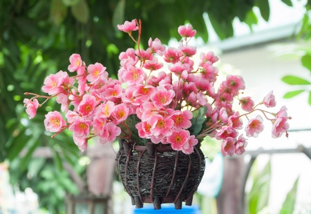 artificial flowers: Sakura artificial flower Stock Photo