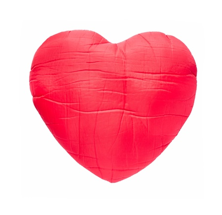 red heart isolated on white Stock Photo