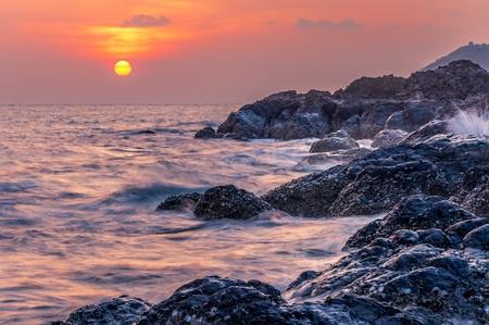 Beautiful sunset over the sea. Stock Photo
