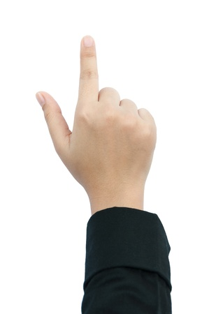 finger point isolated white background