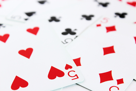 plural number: playing cards