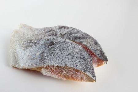 los seres vivos: pescado congelado Foto de archivo