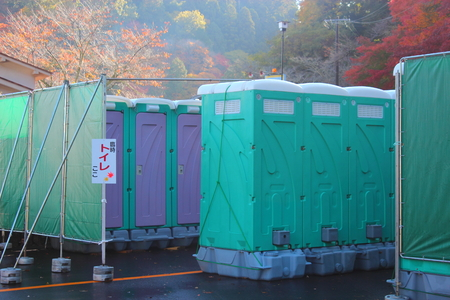 provisional: Temporary toilet