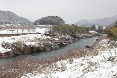 nagara: snow scene Stock Photo