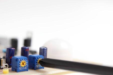 electric circuit: electric circuit Stock Photo
