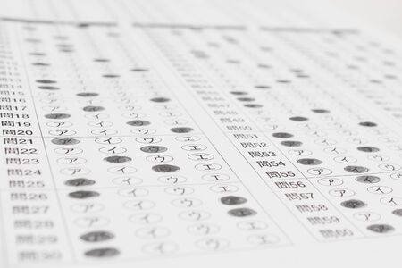 printed matter: Mark sheet